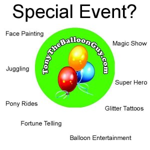 Tampa Balloon Artist Birthday Parties St Petersburg Orlando Clearwater Face Painting Pony Rides Magic Show Juggling Fortune Telling