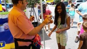 amscot grand opening balloon entertainment